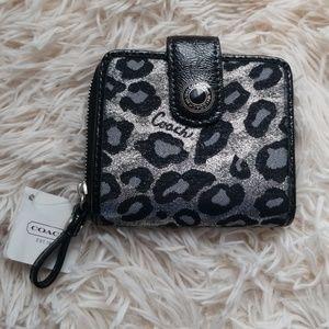 Handbags - Coach small wallet, leopard print